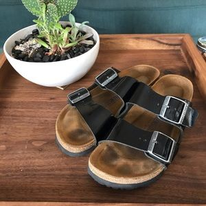 Black Patent Leather Birkenstock Size: 37 or 7